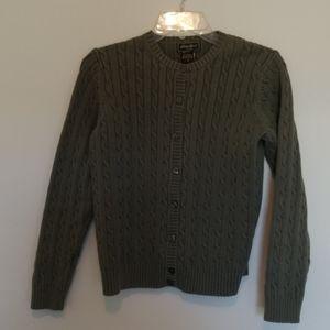 Eddie Bauer Olive Green Button Cardigan Size M